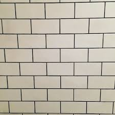 bathroom tiles mini metro matt white ash grout from