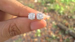 diamond stud size 90 carat diamond gold stud earrings