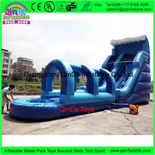 12 4 7m blue kids backyard toys inflatable water slide with pool