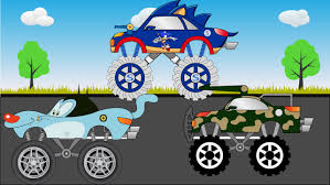 monster truck jam videos for kids oggy truck sonic and millitary truck monster trucks for kids
