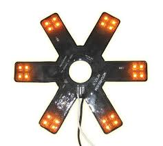 peterbilt air cleaner lights 8 star amber led for 15 donaldson vortox air breather 24 diodes