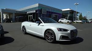 convertible audi white 2018 audi s5 cabriolet quick walk around glacier white convertible