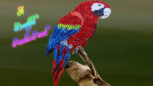 Parrot Decorations Home Quilling Artwork How To Make A Beautiful Rainbow Parrot Youtube