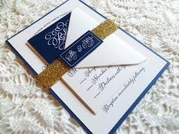 wedding invitations ni navy blue wedding invitations navy blue and gold wedding