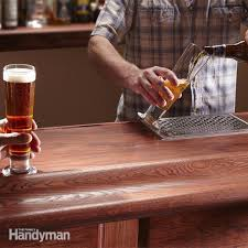 How To Build A Shooting Bench Out Of Wood How To Build A Bar Family Handyman