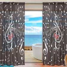 music curtain black curtains bedroom sheer curtains for living