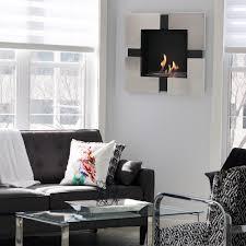 indoor wall mounted ls sunnydaze chaleur ventless wall mounted bio ethanol fireplace 23 inch