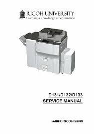 aficio mp 6002 7502 9002 d131 d132 d133 service manual