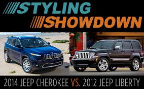 cherokee jeep 2012 styling showdown 2012 jeep liberty vs 2014 jeep cherokee photo