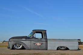 a 650hp 6 0l power stroke engine makes this dropped 1964 ford f