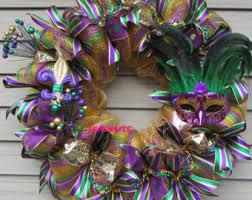 mardi gras wreaths mardi gras party etsy