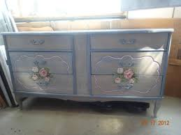 light blue floral painted french provincial shabby chic style