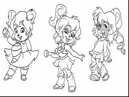 surprising chipmunks chipettes coloring pages alvin