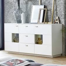 Esszimmer Mit Glastisch Esszimmer Sideboard Hobanna In Weiß Mit Glas Wohnen De