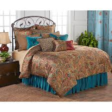 Colorful Queen Comforter Sets Angelo Comforter Sets With Teal Bedskirt