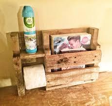 on sale rustic toilet paper holder rustic wood magazine rack