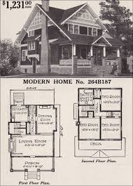 craftsman floor plan half timbered two craftsman style bungalow 1916 sears