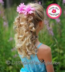 pageant style curling long hair girls pageant hairstyle french braid and curls