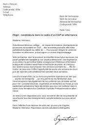 lettre de motivation pour cap cuisine lettre de motivation cap alternance modèle de lettre