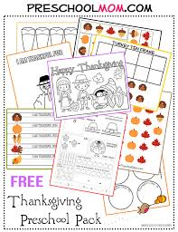 free preschool thanksgiving activity pack and printables free