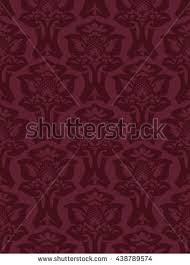 Western Drapery Vector Seamless Floral Damask Pattern Vintage Stock Vector