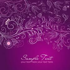 Wedding Card Design Background Purple Floral Free Vector Download 7 842 Free Vector For