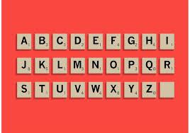scrabble letter tiles set download free vector art stock