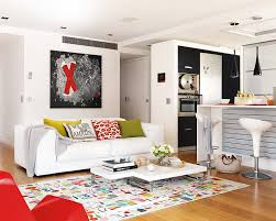 bright colour interior design bright apartment interior design with splashes of colour