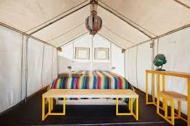 steal this look tent bedroom at el cosmico in marfa texas