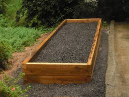 diy soil mix for recycle wood raised bed vegetable garden for