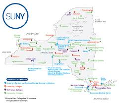 map of state of ny map of suny institutions suny