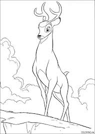 coloring bambi father coloring
