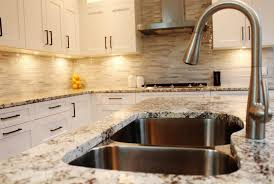 Kitchen Backsplash Material Options Granite Countertop Kitchen Cabinets With Price Backsplash