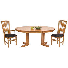 Round Cherry Kitchen Table by Round Shaker Pedestal Dining Table With Extension In Cherry Maple