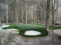Backyard Golf Course by Home