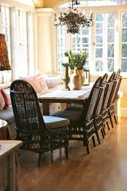 Black Wicker Furniture Dining Room Rattan Dining Chairs With Black Rattan Dining Set