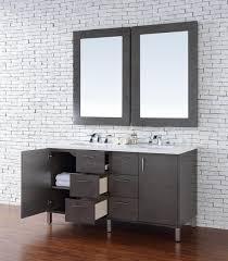 abstron 60 inch silver oak finish double sink bathroom vanity