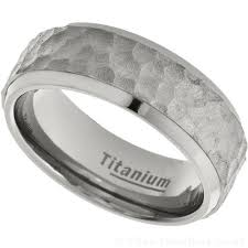 mens titanium wedding ring men s 8mm planished titanium wedding ring