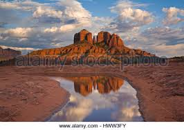 Cathedral Rock Reflections At Sunset Red Rock Crossing Cathedral Rock Reflections In Oak Creek Sedona Arizona Usa
