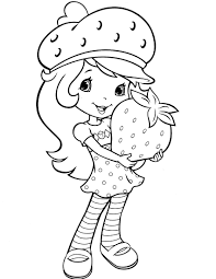 strawberry shortcake 1 coloringcolor with dora coloring page