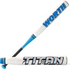 composite softball bat new worth titan 33 23 fpttn fastpitch softball bat white blue 10