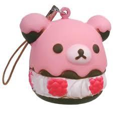 rilakkuma raspberry icing cake squishy charm リラックマ u2013 chibi dragon