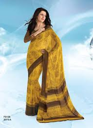 pretty lady 2 simple and sober printed georgette saree helix