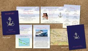 cruise wedding invitations cruise wedding invitation passport itinerary booklet gold anchor