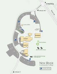 Virginia Rivers Map by Maps U0026 Directions New River Community College Dublin Virginia