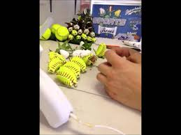 how to make baseball bud roses 3 minute video crafty gifts