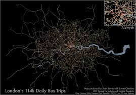 Data Map Mapped Every Bus Trip In London Mapping London