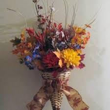 cornucopia arrangements fall cornucopia silk flower arrangement 4 mimiscreation on artfire