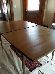 Mid Century Modern Dining Room Table Now Is Overrated Or How To Refinish A Broyhill Brasillia Dining
