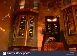 free halloween decorations halloween decorations brooklyn park slope new york stock photo